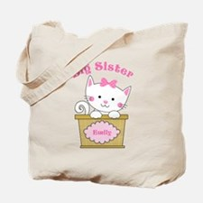 Personalized Kitty Big Sister Tote Bag
