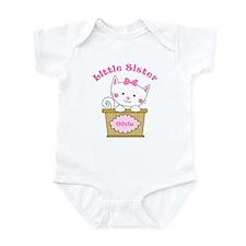 Personalized Kitty Little Sister Infant Bodysuit