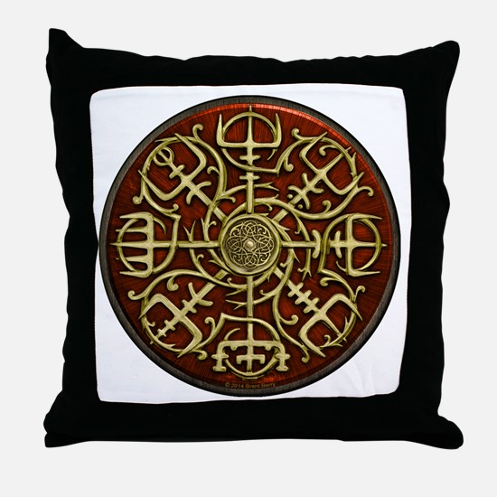 Nordic Guidance Red Throw Pillow