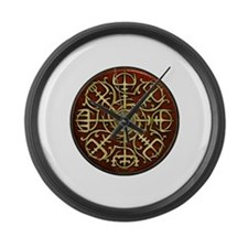 Nordic Guidance Red Large Wall Clock