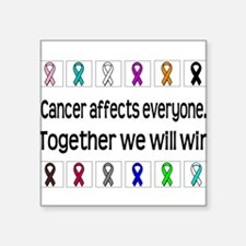 Cancer Affects Everyone Rectangle Sticker