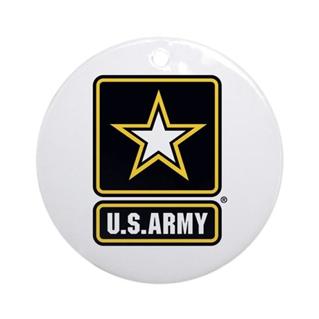 U.S. Army Star Logo Ornament (Round)