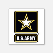 U.S. Army Star Logo Square Sticker 3