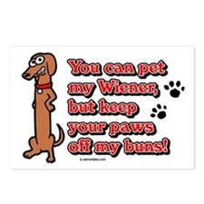 You Can Pet My Wiener! Postcards (Package of 8)