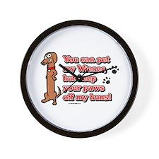 You Can Pet My Wiener! Wall Clock