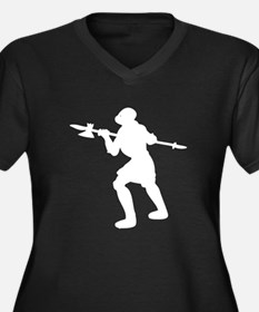 Medieval Soldier With Halberd Plus Size T-Shirt