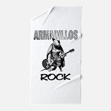 armadillosrock.png Beach Towel
