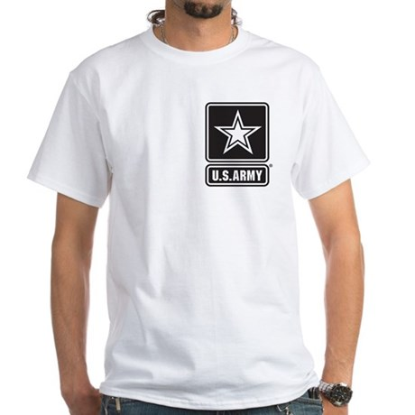 U.S. Army Star Logo [b/w] White T-Shirt