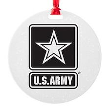 U.S. Army Star Logo [b/w] Ornament