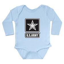 U.S. Army Star Logo [b/w] Long Sleeve Infant Bodys