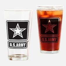 U.S. Army Star Logo [b/w] Drinking Glass