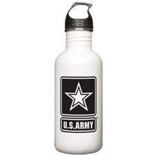 U.S. Army Star Logo [b/w] Water Bottle