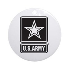 U.S. Army Star Logo [b/w] Ornament (Round)