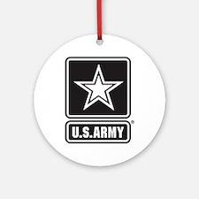 U.S. Army Star Logo [b/w] Ornament (Round)