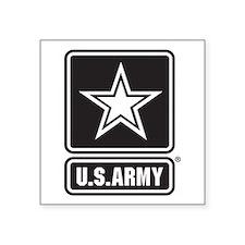 """U.S. Army Star Logo [b/w] Square Sticker 3"""" x 3"""""""