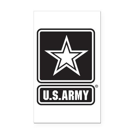 U.S. Army Star Logo [b/w] Rectangle Car Magnet