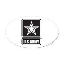 U.S. Army Star Logo [b/w] Oval Car Magnet