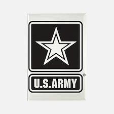 U.S. Army Star Logo [b/w] Rectangle Magnet