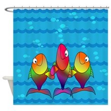 Smiling Fish - Colorful Shower Curtain