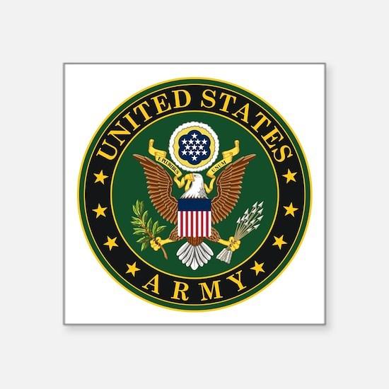 "U.S. Army Symbol Square Sticker 3"" x 3"""