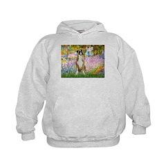 Boxer in Monet's Garden Hoodie