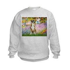 Boxer in Monet's Garden Sweatshirt