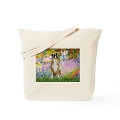 Boxer in Monet's Garden Tote Bag