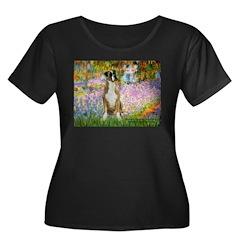 Boxer in Monet's Garden T