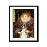 The Queen & her Boxer Framed Panel Print
