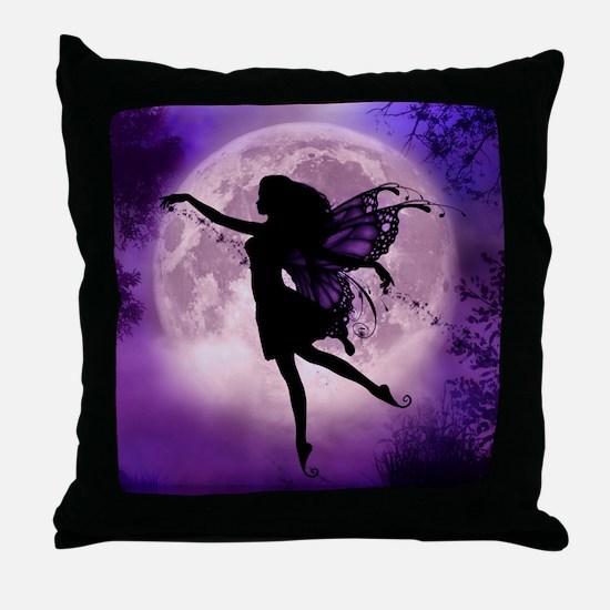 Midnight Stroll Fairy Throw Pillow