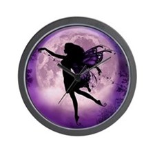Midnight Stroll Fairy Wall Clock