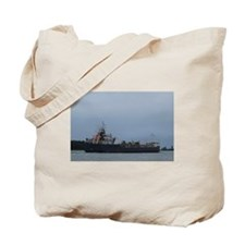 Great Lakes Ship viewed from Harsens Isla Tote Bag