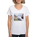 Creation of the Boxer Women's V-Neck T-Shirt