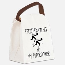 SPEEDSKATING is My Superpower Canvas Lunch Bag