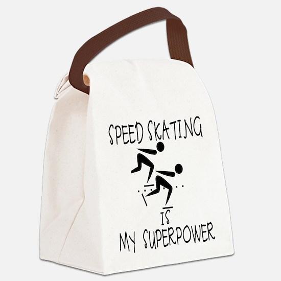 SPEEDSKATING is My Superpower Canvas Lunch Bag