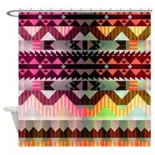 Mix #536, Tribal Shower Curtain