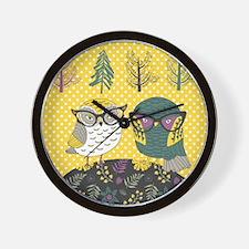 Trendy Owls Wall Clock