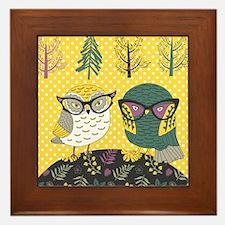 Trendy Owls Framed Tile