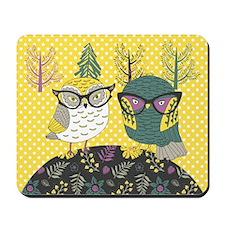 Trendy Owls Mousepad