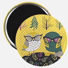 Trendy Owls Magnet