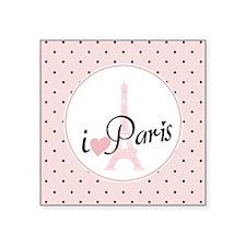 "I Love Paris Square Sticker 3"" x 3"""