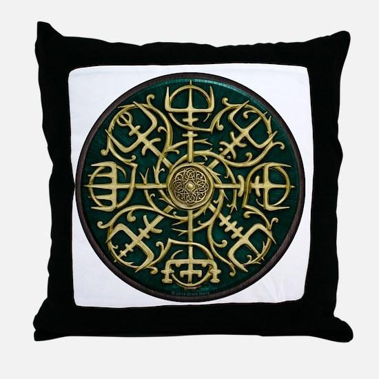 Nordic Guidance - Green Throw Pillow