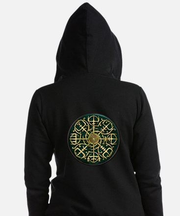 Nordic Guidance - Green Zip Hoodie