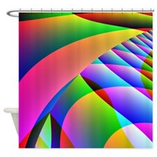 Colorful Abstract Pattern Shower Curtain
