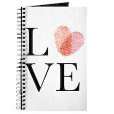 Love with red fingerprint heart Journal