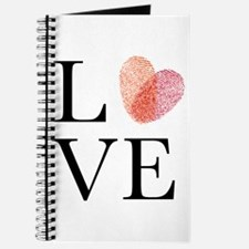 Love with red fingerprint heart Journal