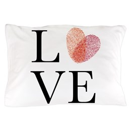 Love Print Pillow Case