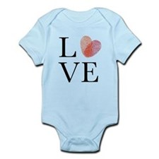 Love with red fingerprint heart Body Suit