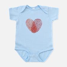 Red fingerprint heart Body Suit