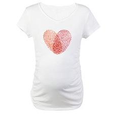 Red fingerprint heart Shirt
